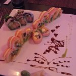 Pink Lady Roll, and coconut shrimp