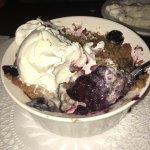 The blueberry cobbler desert special! So good! Too good.