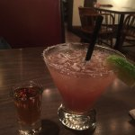 Flower-Rita with a shot of Grand Marnier on the side.