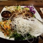 This is bahn mi salad with pulled pork.