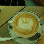 Cafe con cara de oso