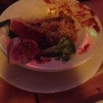 Key lime pie , sushi tuna aha  Mahi mahi and shrimp and vegetables