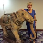 Two of these elephants adorn the walk-way from the Courtyard to the JW hotel in Hyderabad