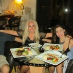 Lunch with owners in the casual bar area and the next day a romantic dinner in the main dining a