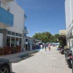 Side street to beach opposite Mavros.