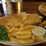 Absolutely fantastic Exceptional fish and chips  (Saw the landlady open the bear for the battery
