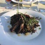 lamb over lentils