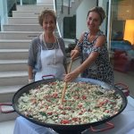 Marina & Mom making delicious Paella