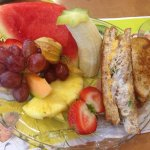 Tuna Melt and Fruit Platter
