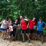 making friends on Macritchie trail