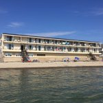 The Atlantic Oceanfront Motel from the ocean