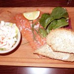 This is the salmon and shrimp salad platter; simply delicious. Perfect for a light lunch