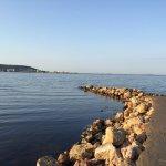 L'étang de Thau depuis la plage