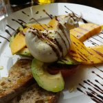 Burrata, mango and avocado salad