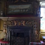 Beautifully carved fireplace