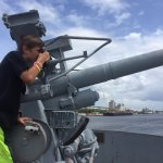 Checking out the guns! :)