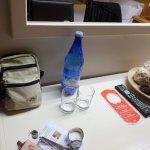 la bouteille d'eau offerte