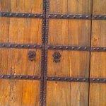 Iconic wood front door