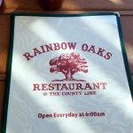 Foto di Rainbow Oaks Restaurant