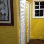 Closet and hallway to bathroom