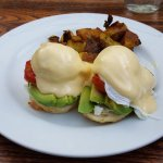 Avocado eggs benedict - very good