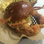 Soft shelled crab burger
