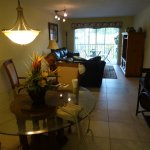 Living room/dinning room, unit is very dark, my camera actaully made it brighter in the picture