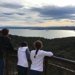 Wineglass Bay Aussichtspunkt Foto