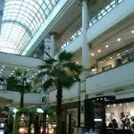 Foto del mall tomada de abajo.