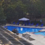 Fantastic new pool area with cabana's at the Wyndham Peachtree Hotel