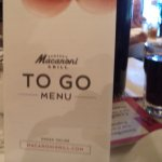 To go menu available.