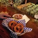 Bavarian Pretzel Basket $8 four hot braided pretzels, salt, garlic herb boursin