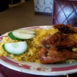 another view of tasty chicken with rice