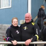 Kevin and Lorelei in their seal suits lol. great experience
