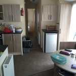 Lovely caravan clean spacious and well equipped location great just a short walk to the beach