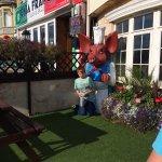 Outside the eating inn Blackpool