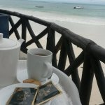 - Afternoon tea right at the beach !