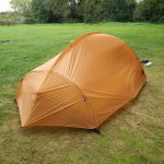 our tent pitched up - as you can see there was plenty of space if you get in after school hols e