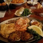 Broiled seafood combo, delicious!