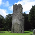 Church tower at Dartington Hall