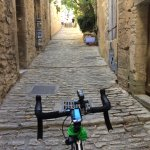 Spent the week biking Luberon on a Specialized Roubaix. Hubert set it up with three rings up fro