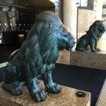 Lions guarding the front entrance
