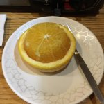 Orange delicacy after the meal