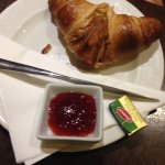 Croissant and butter / jam