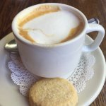 Cappuccino with sugar cookie