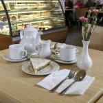 Tea and Bakewell Tart