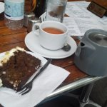 Carribean Ginger Cake and the spiced rooibos loose leaf tea.