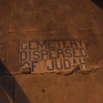 Jewish Cemetery sidewalk from Bloody Mary's ghost tour