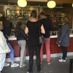 . There was a long queue for ordering and I had to return three times to ask for the food