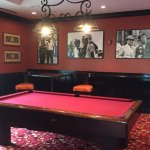 pool table by bar